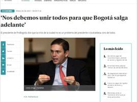 'Nos debemos unir todos para que Bogotá salga adelante'
