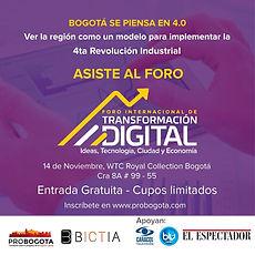 Foro Internacional de Transformación Digital: Ideas, Tecnología, Ciudad y Economía