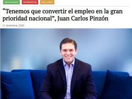 """""""Tenemos que convertir el empleo en la gran prioridad nacional"""", Juan Carlos Pinzón"""