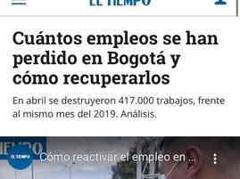 Cuántos empleos se han perdido en Bogotá y cómo recuperarlos