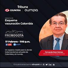 Tribuna Colpatria   Esquema Vacunación en Colombia   Fernando Ruíz Gómez