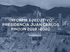 Informe ejecutivo Juan Carlos Pinzón / 2019 - 2020