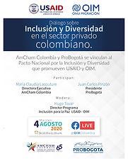 Diálogo sobre Inclusión y Diversidad en el sector privado colombiano