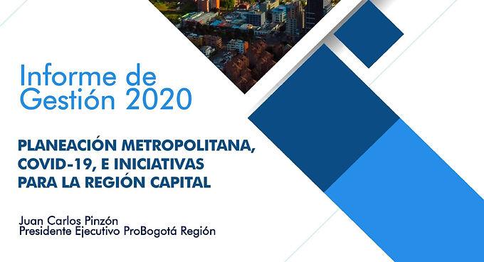 Informe de Gestión 2020, Planeación metropolitana, Covid-19 e iniciativas para la Región Capital