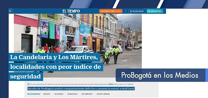 La Candelaria y Los Mártires, localidades con peor índice de seguridad