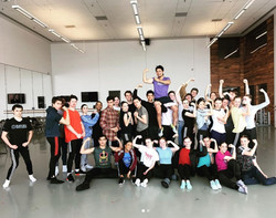 With Dancers