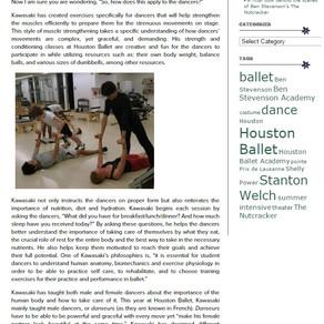 ヒューストンバレエのブログ