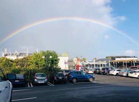 Huge rainbow caught on raw camera -Royal Oak