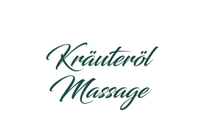 Kräuteröl-Massage