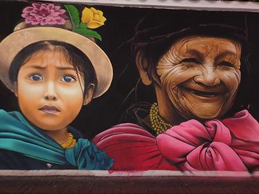 Straßenkünstler in Otavalo