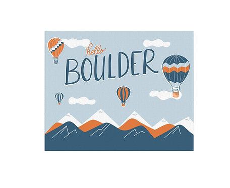 Boulder Balloons Print