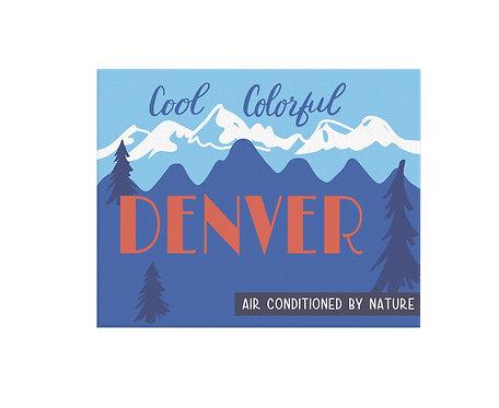 Cool Colorful Denver Print