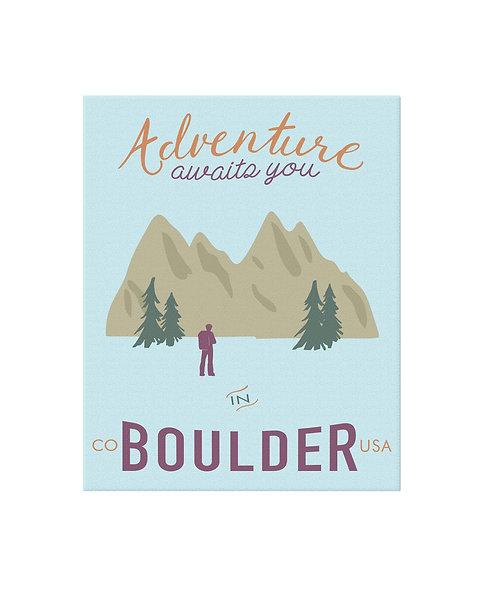 Adventure Boulder Print