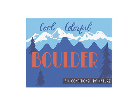 Cool Colorful Boulder Print