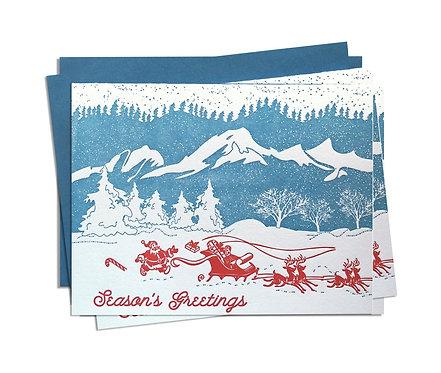 Mountain Christmas Box