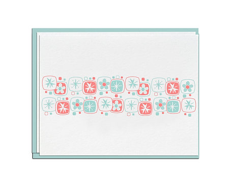 Mod Flowers Stationery