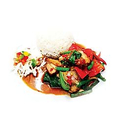 12.Pad Kra Pow Moo Grob (กระเพาหมูกรอบ)