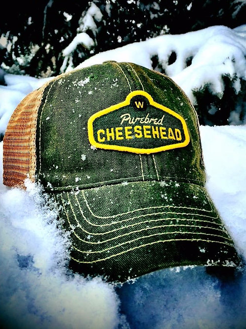 PUREBRED CHEESEHEAD™ Green SnapBack Hat