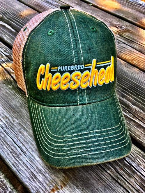 Purebred Cheesehead™ Font trucker green