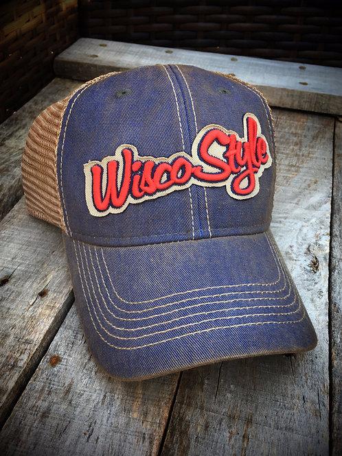 WISCO STYLE™ Faded Blue Snapback Hat