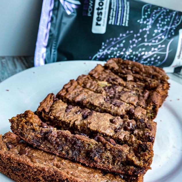 Chocolate Chip FEM Power Zucchini Bread