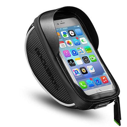 6.0 Inch Waterproof Touch Screen Reflective Bicycle Handlebar Bag