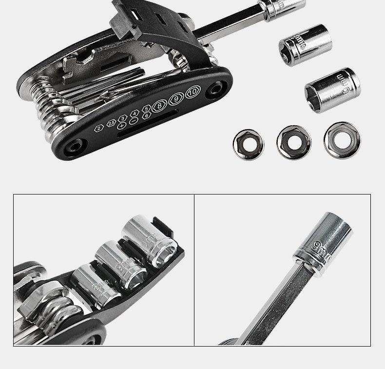 Rockbros 16 In 1 Multifunction Bicycle Repair Tools Kit