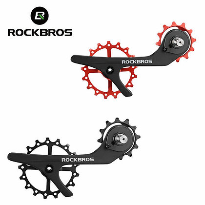 RockBros 17TH Full Carbon Fiber Bike Pulley Wheel Rear Derailleur Jockey Wheel