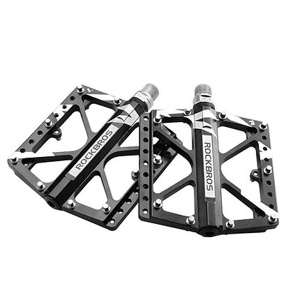 "RockBros MTB Bike 3 Sealed Bearing Bicycle Wide Pedals 9/16"" CR-MO Axle Black"