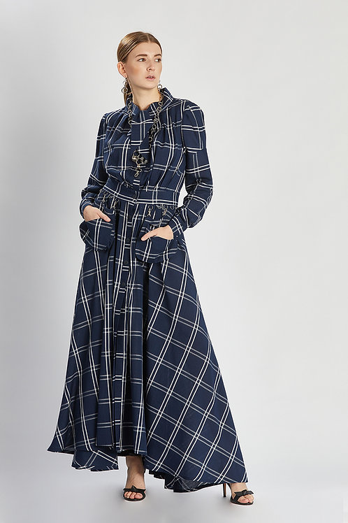 "Kleid ""night sky checkered dress"""