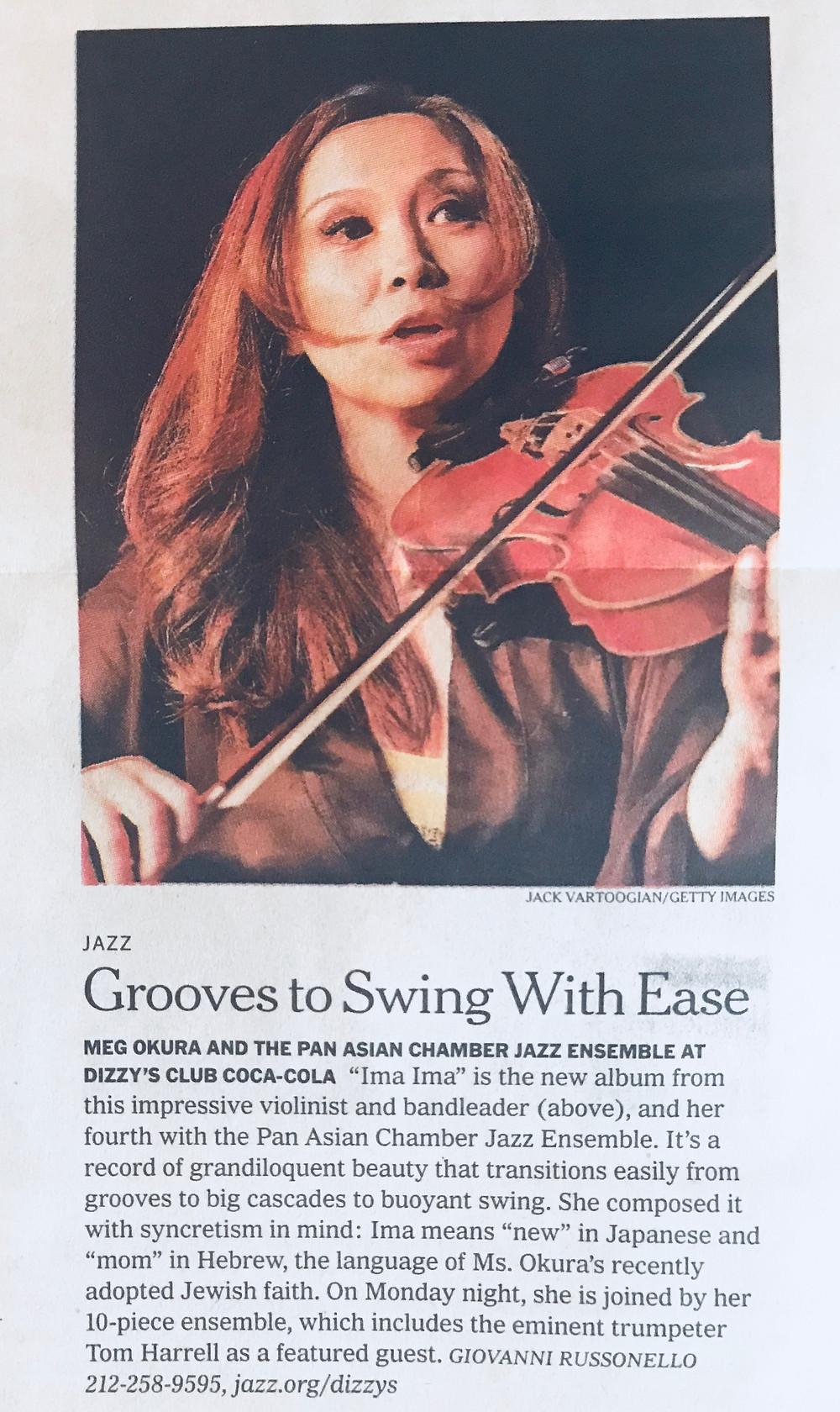 New York Times features Meg Okura