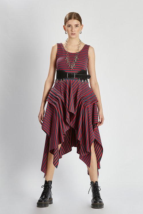 "Kleid ""cherry-anthracite dress"""