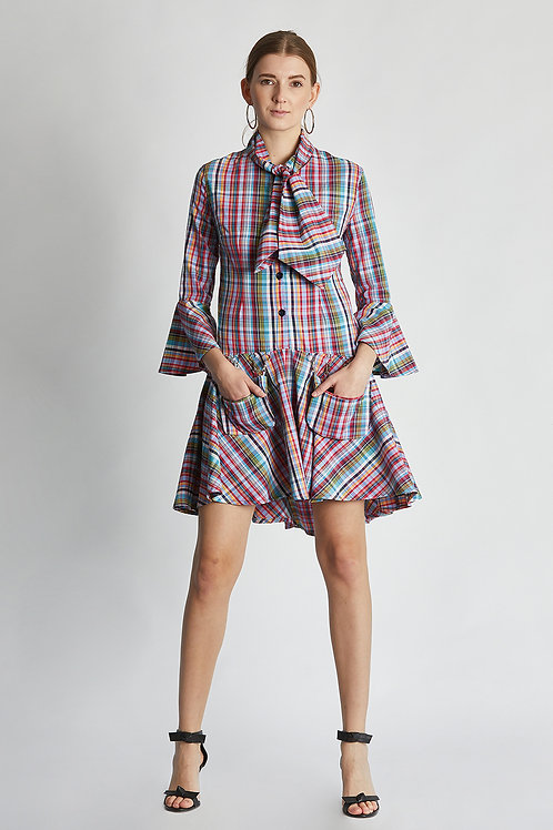 "Kleid ""aurora pink checkered dress"""