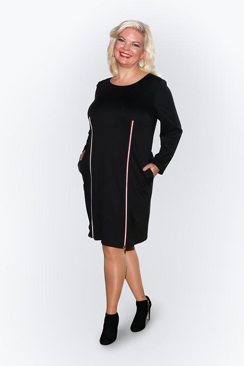 Kleid St.Tropez schwarz/rot
