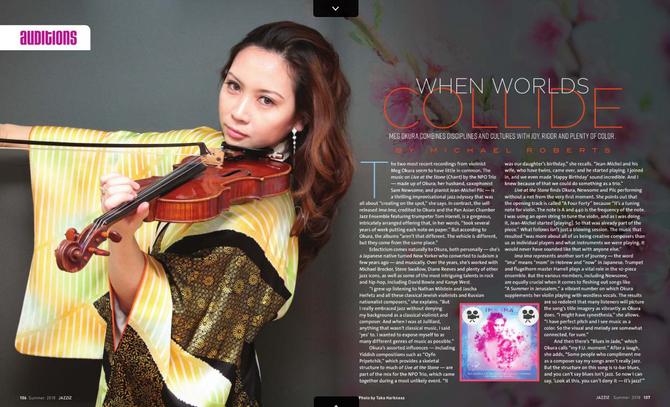 JAZZIZ Magazine Features Meg Okura on Its SUMMER 2018 Issue!