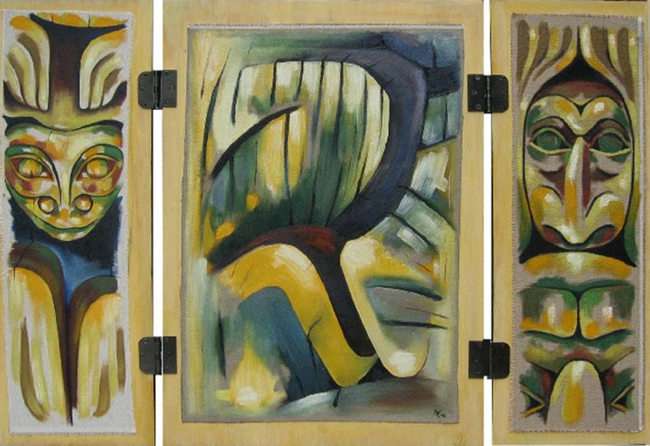 Totem, verso triptyque, 2008