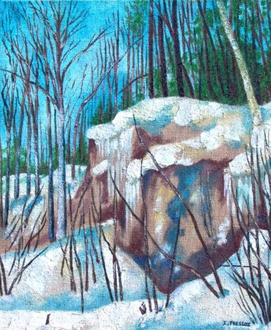 Cascade gelée, 2004