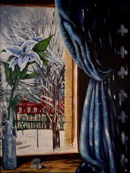 Le lys à la fenêtre (disponible)