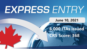 Latest Express Entry Draw: 368 CRS, 6,000 ITAs