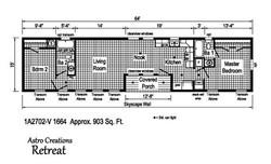16x64 astro retreat floorplan