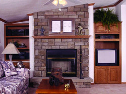 Optional fireplace with built-ins