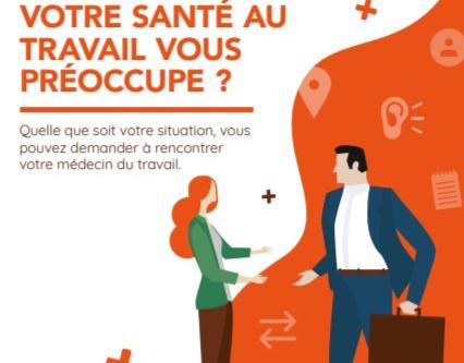 Affiche et Flyer pour promouvoir les visites à la demande des salariés avec leur médecin du travail