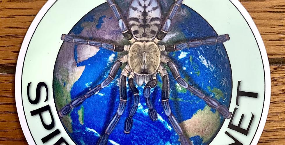 NEW LOGO Spider Planet fridge magnet 50mm