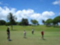 親子で楽しくゴルフプレー