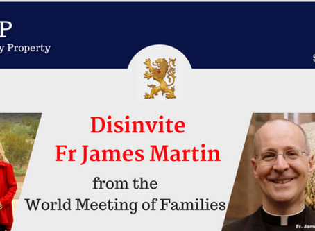 Over 16,000 Urge Archbishop of Dublin to Disinvite Fr. James Martin from World Meeting of Families