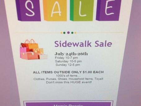 Sidewalk Dollar Sale