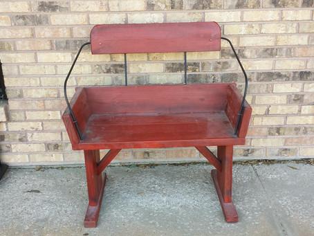 Unique Wagon Seat Bench..