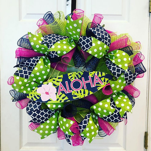 Colorful Aloha Wreath