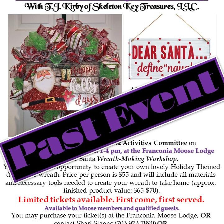 Holiday/Santa Wreath Workshop