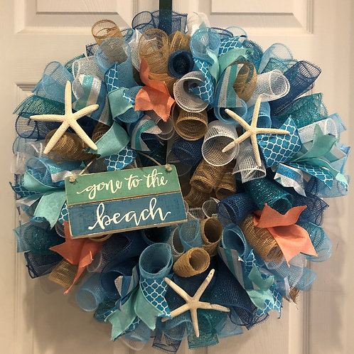 Gone To The Beach Wreath
